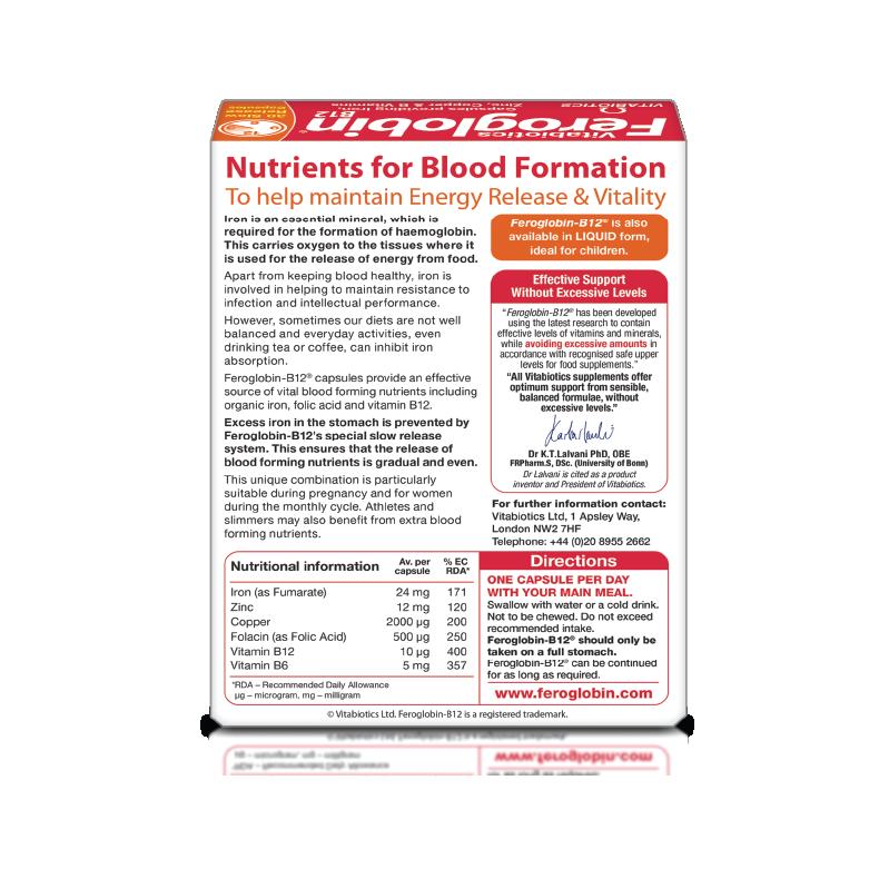 Viên uống bổ máu Feroglobin B12 Capsules