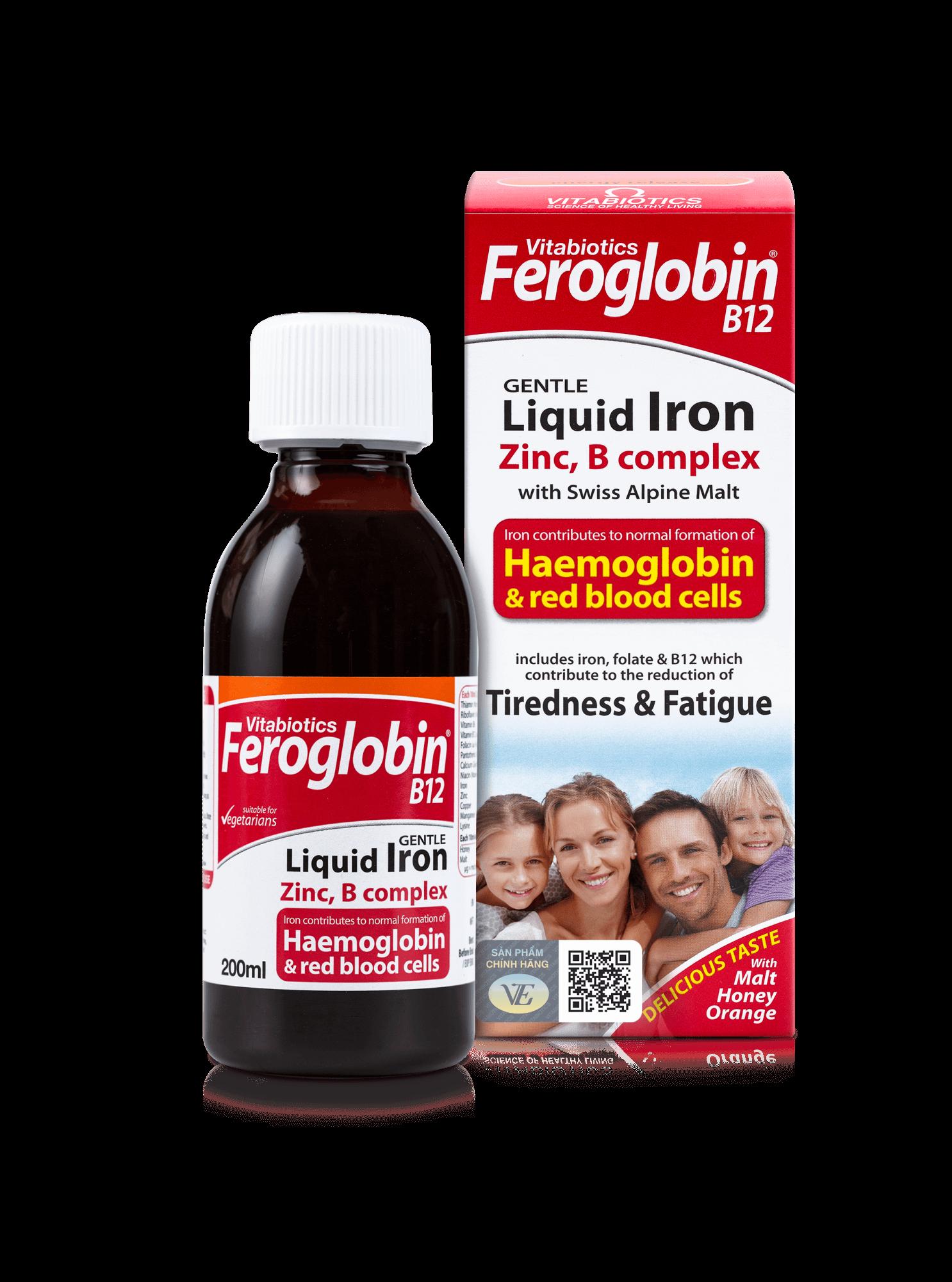 Siro bổ máu cho bé Vitabiotics Feroglobin B12 Liquid