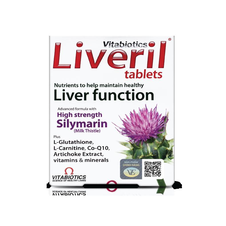 Liveril Giải độc gan - tăng cường đề kháng 280mg Silymarin
