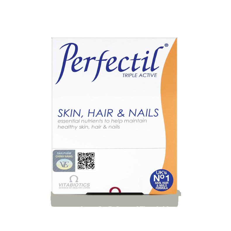 Vitabiotics Perfectil - Thực phẩm bảo vệ sức khỏe chăm sóc da, tóc, móng