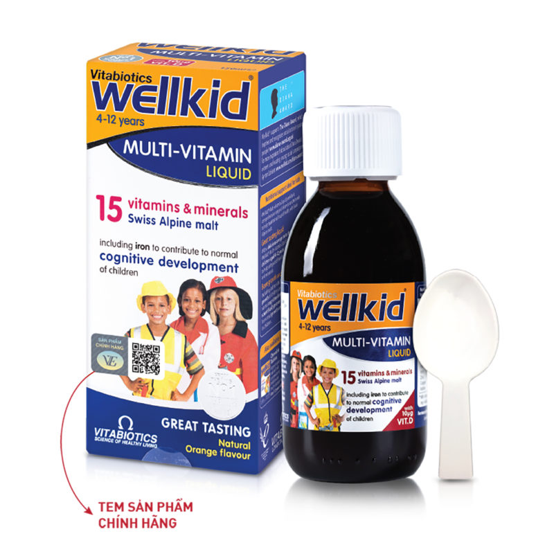 Siro vitamin và khoáng chất cho trẻ Wellkid Multi-vitamin Liquid (150ml)