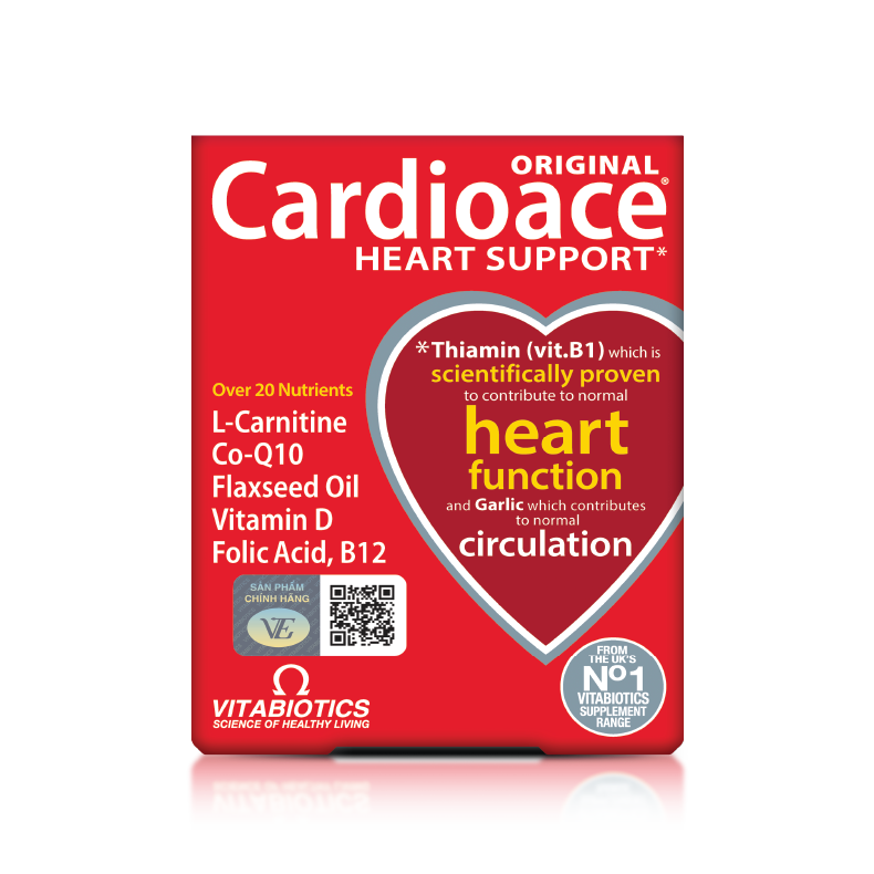 Viên vitamin và khoáng chất hỗ trợ tim mạch Vitabiotics Cardioace Original