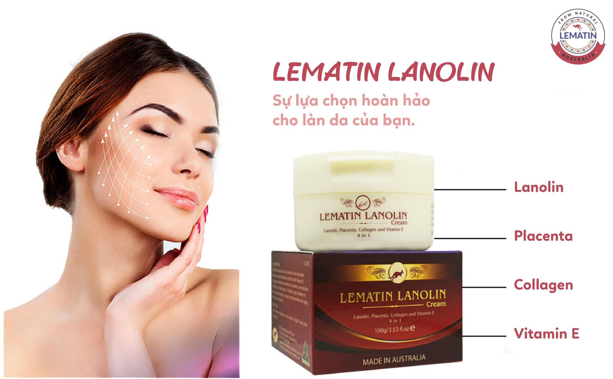 nhau thai cừu LEMATIN-LANOLIN (100 mg) organic365